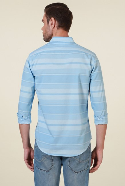Allen Solly Blue Comfort Fit Striped Shirt