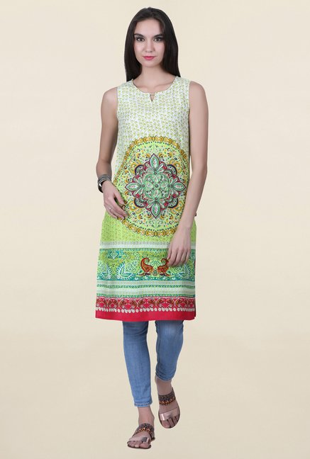 Juniper Lime Printed Kurta