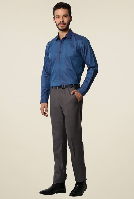 Van Heusen Blue Full Sleeves Slim Fit Shirt