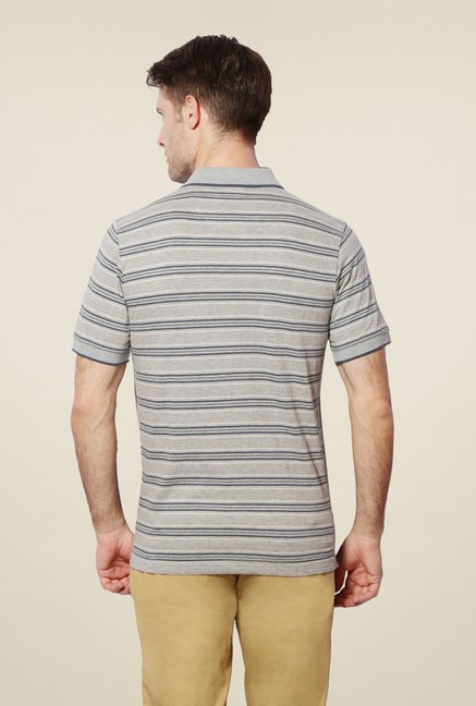 Van Heusen Grey Striped T-Shirt