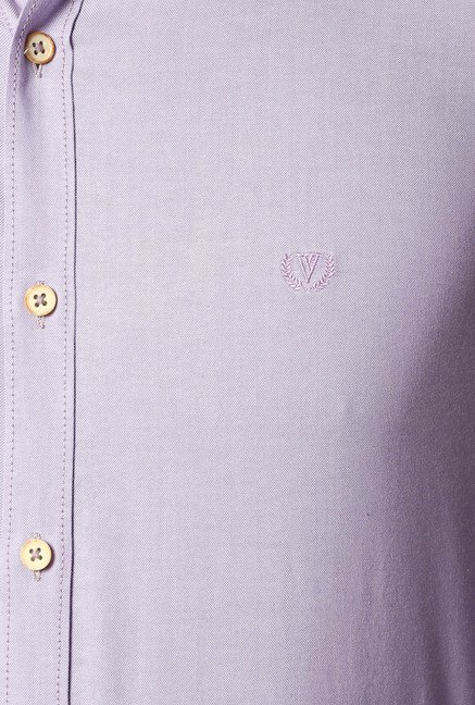 Van Heusen Lilac Slim Fit Cotton Shirt