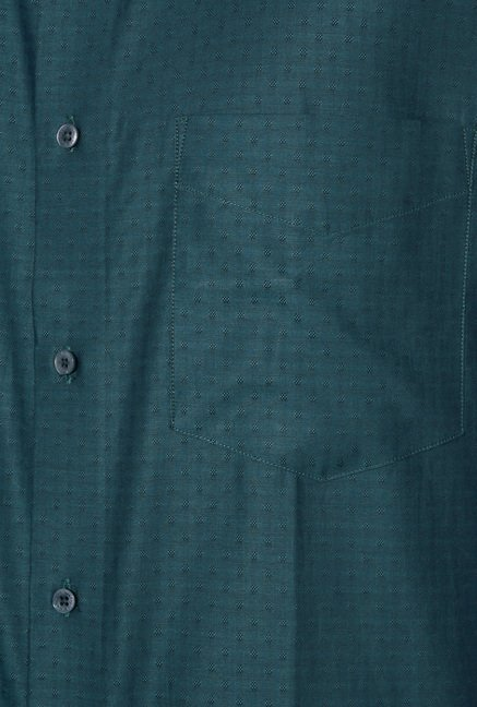 Van Heusen Green Regular Fit Shirt