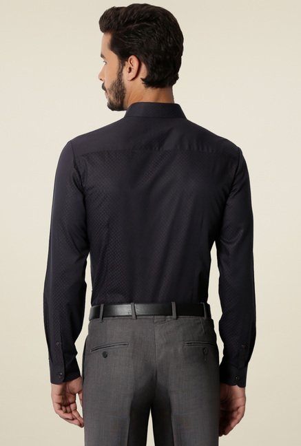 Van Heusen Black Ultra Slim Fit Cotton Shirt