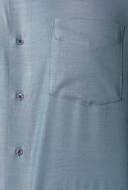 Van Heusen Green Full Sleeves Cotton Shirt