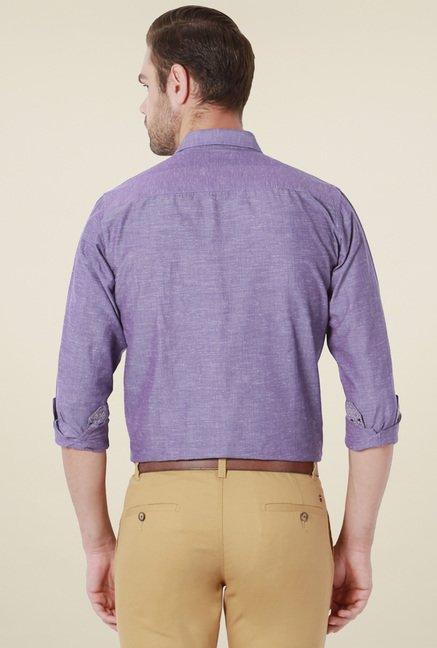 Peter England Purple Full Sleeves Shirt