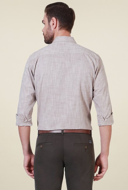 Allen Solly Grey Full Sleeves Shirt