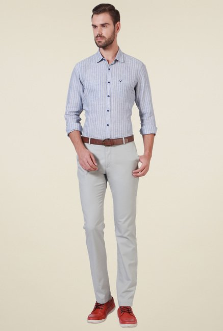 Allen Solly Grey Striped Shirt