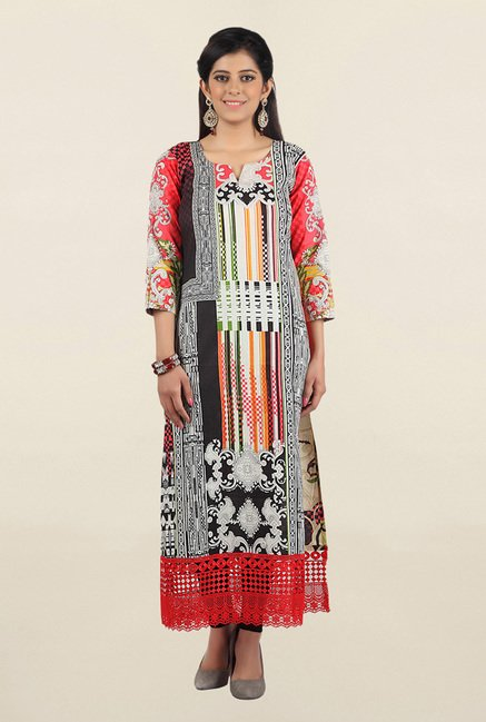 Jashn Multicolor Printed Cotton Kurta