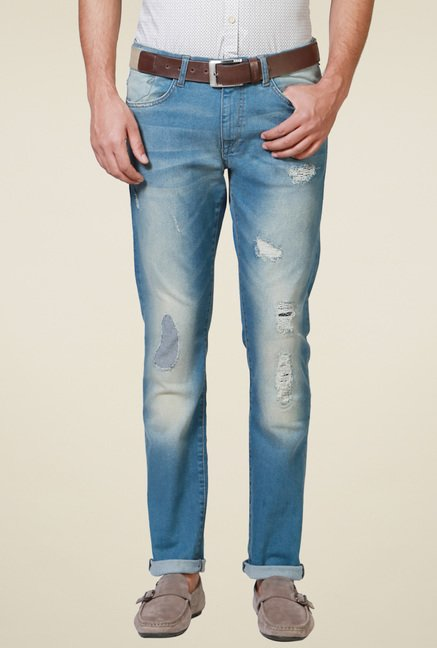 Allen Solly Light Blue Slim Fit Jeans