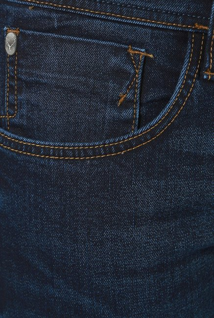 Allen Solly Dark Blue Slim Fit Mid Rise Jeans