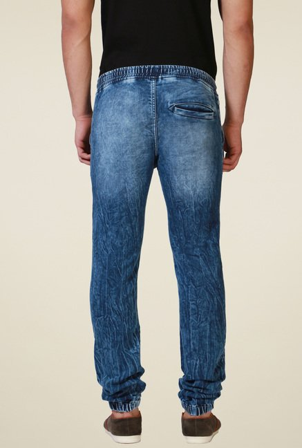 Allen Solly Blue Lightly Washed Jogger Jeans