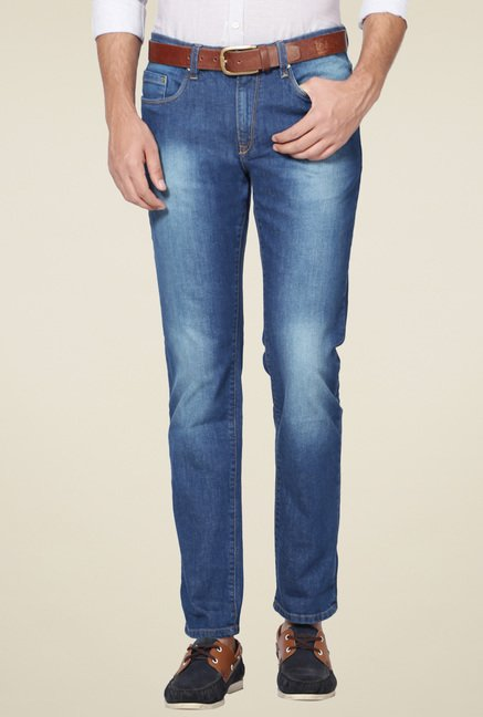 Allen Solly Steel Blue Slim Fit Jeans