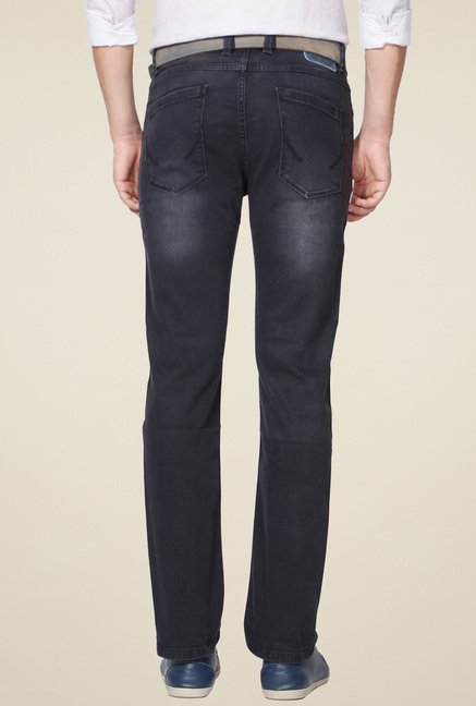 Allen Solly Dark Grey Slim Fit Jeans