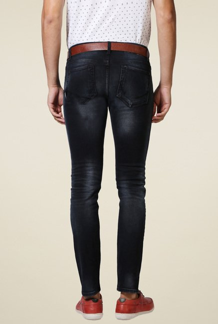 Allen Solly Black Stone Washed Jeans