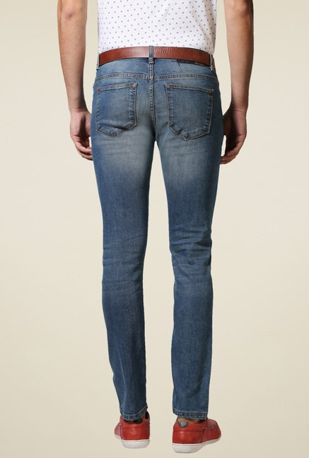 Allen Solly Blue Lightly Washed Mid Rise Jeans