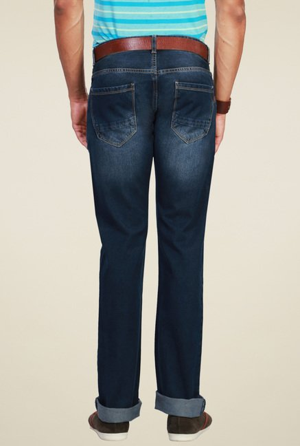 Peter England Dark Blue Straight Fit Jeans