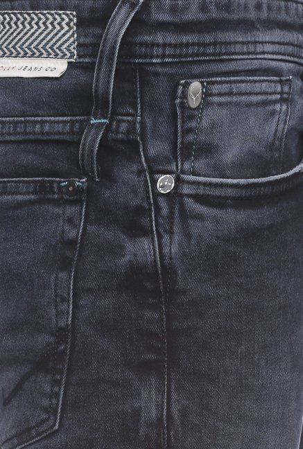 Allen Solly Charcoal Mid Rise Jeans