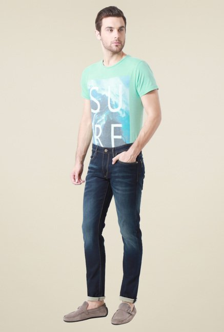 Allen Solly Dark Blue Mid Rise Jeans