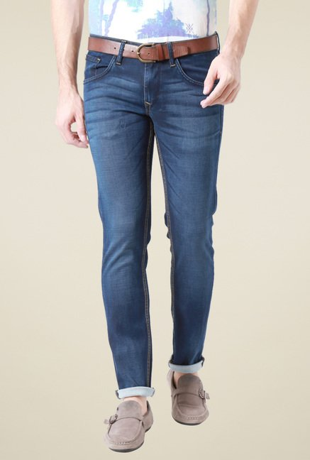 Allen Solly Dark Blue Mid Rise Ultra Slim Fit Jeans
