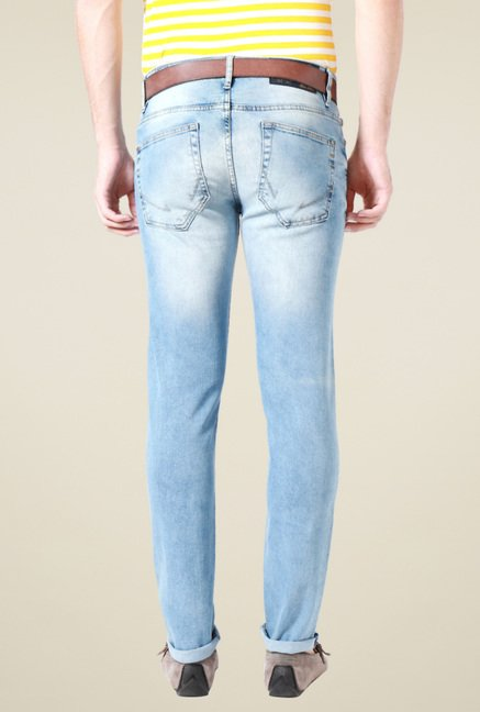 Allen Solly Light Blue Ultra Slim Fit Jeans