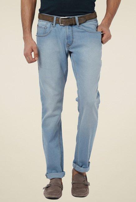 5bcb5ef1 Buy Peter England Light Blue Mid Rise Slim Fit Jeans for Men Online @ Tata  CLiQ