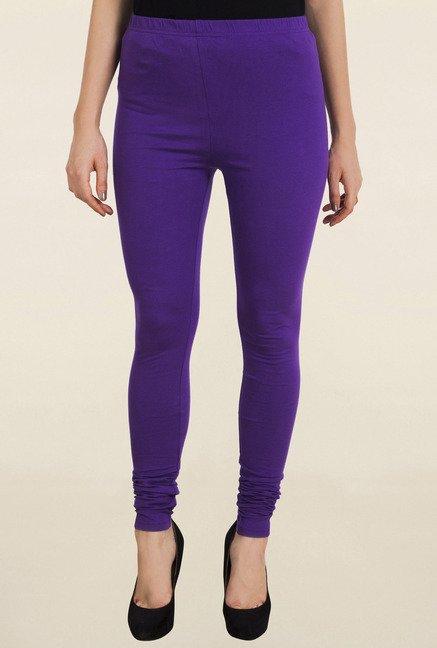 Aurelia Purple Solid Churidar