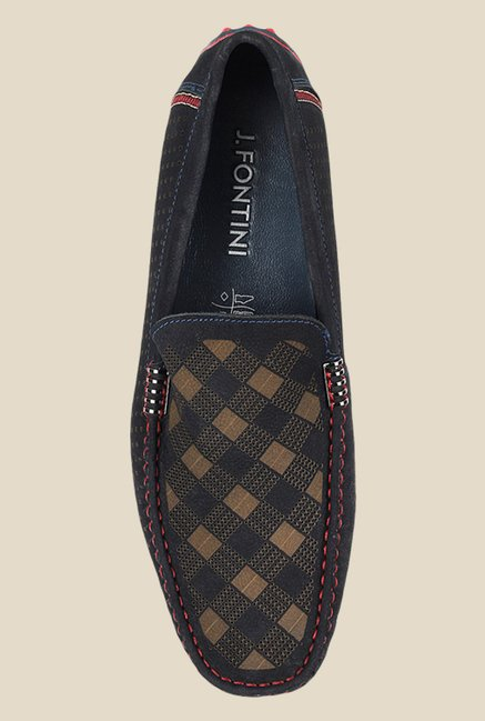 398bfb273aa Buy J. Fontini by Mochi Navy   Khaki Casual Loafers for Men at Best ...