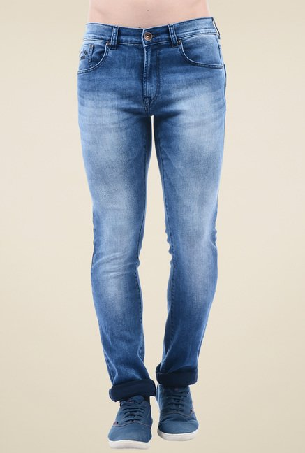 Pepe Jeans Blue Slim Fit Cotton Jeans