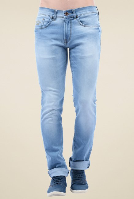 Pepe Jeans Light Blue Mid Rise Cotton Jeans