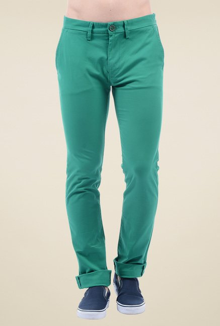 Pepe Jeans Teal Green Mid Rise Jeans