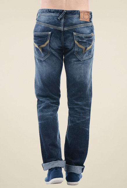 Pepe Jeans Dark Blue Regular Fit Cotton Jeans