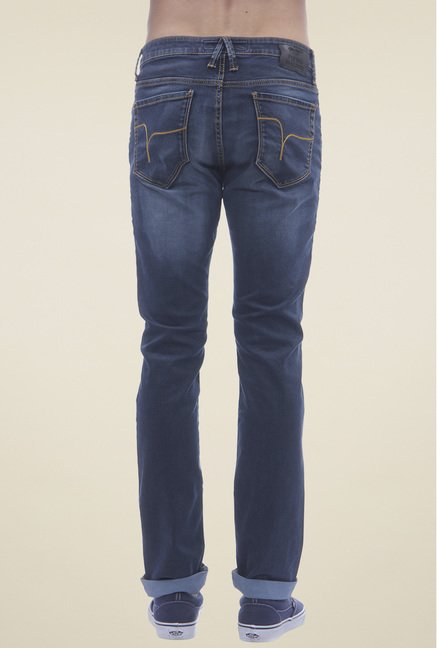 Flying Machine Steel Blue Mid Rise Jeans