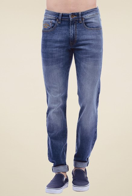 Pepe Jeans Blue Lightly Washed Slim Fit Jeans