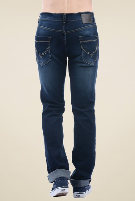 Pepe Jeans Dark Blue Lightly Washed Cotton Jeans