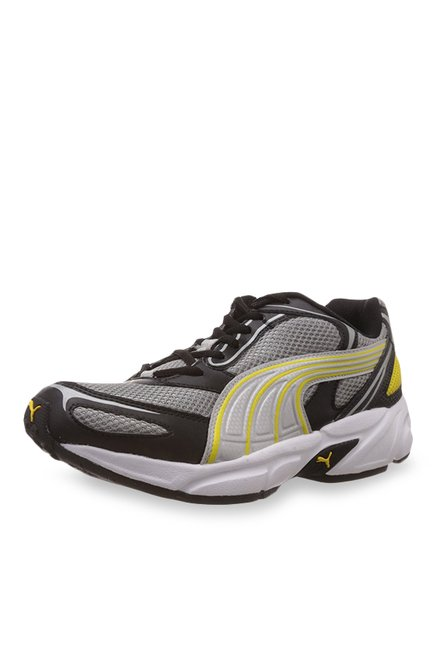35477041a58b Buy Puma Aron Ind. Grey   Black Running Shoes for Men at Best Price   Tata  CLiQ
