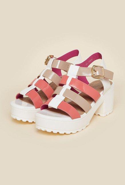 404b40d252ec Buy Metro Pink   White Platform Heels for Women at Best Price ...