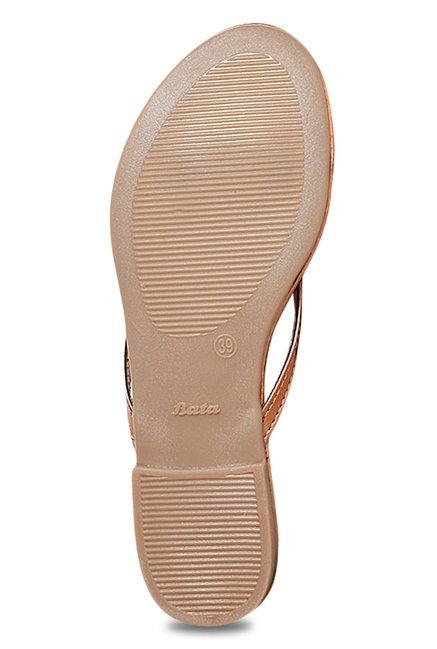 3c8b0345d551 Buy Bata Vinci Rose Gold Thong Sandals for Women at Best Price ...