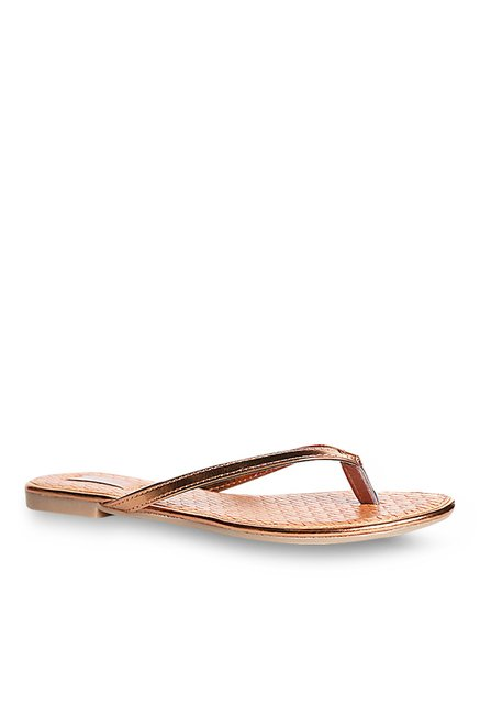 2bb4fa2ced4a Buy Bata Vinci Rose Gold Thong Sandals for Women at Best Price ...
