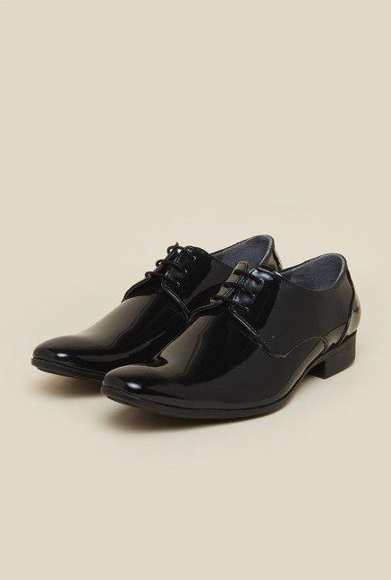 Buy Mochi Black Derby Formal Shoes for