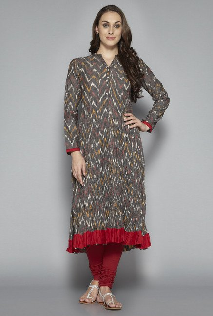 Utsa by Westside Grey Anarkali Kurta