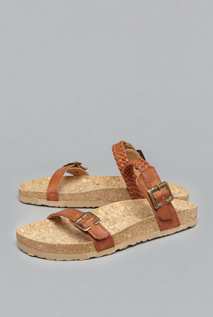 787e24d121f Buy Head Over Heels by Westside Tan Berkie Sandals For Women Online At Tata  CLiQ