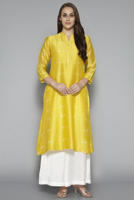 Zuba by Westside Yellow Printed Kurta