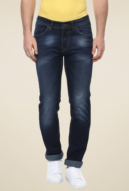 Turtle Navy Low Rise Slim Fit Jeans