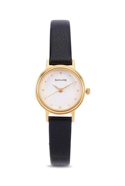 Sonata NJ8096YL01C Analog Watch for Women