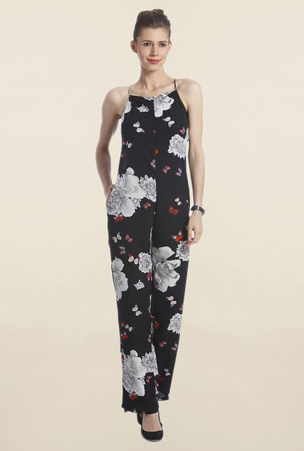 93d35ef80ede Buy Only Black Floral Print Jumpsuit for Women Online   Tata CLiQ