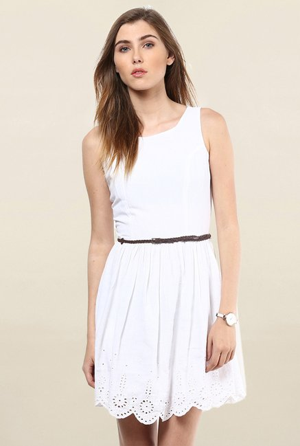 Only White Embroidered Dress