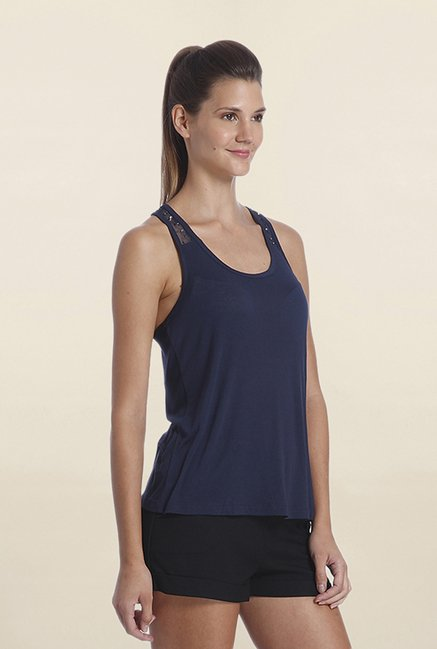Only Navy Solid Tank Top