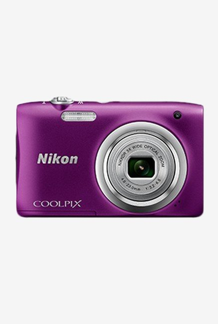 Nikon Coolpix A100 20.1 MP Point   Shoot Camera 16 GB Card Camera Pouch  Purple