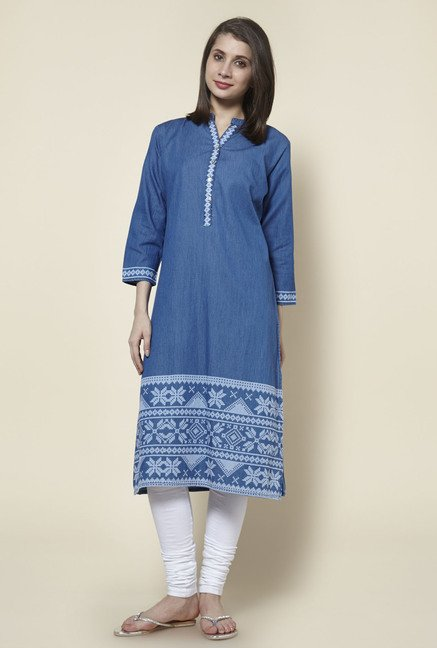 Zudio Indigo Pure Cotton Kurta