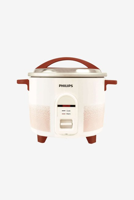 Philips HL1666/00 2.2-Litre Electric Rice Cooker(White/Red)